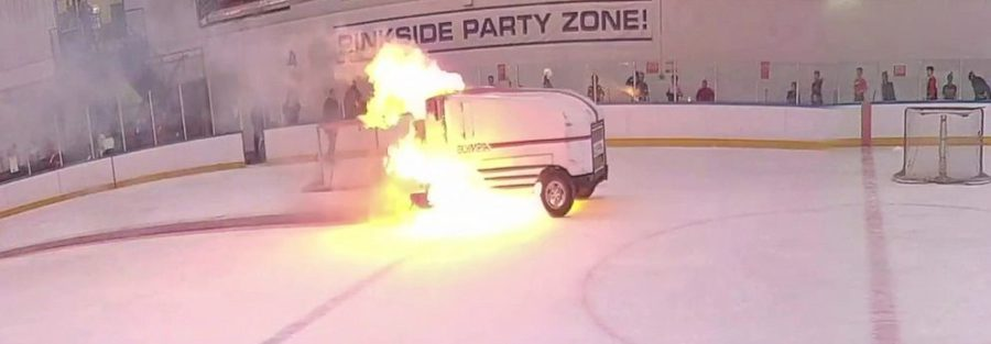 Zamboni On Fire