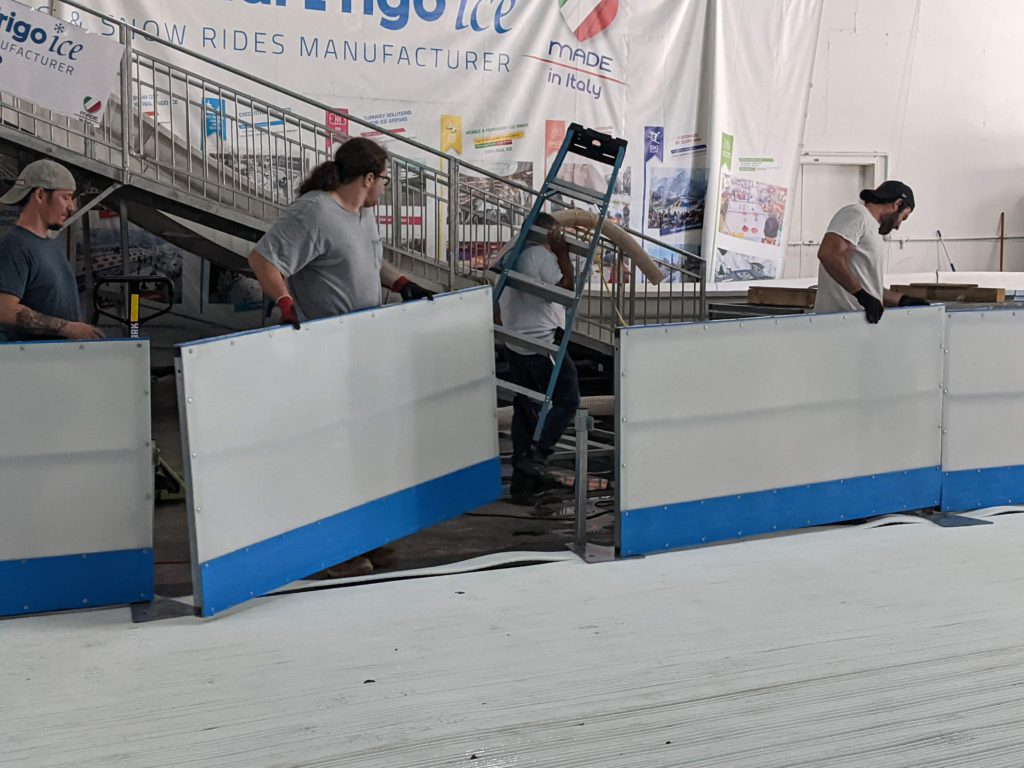 Portable Ice Rink Assembly